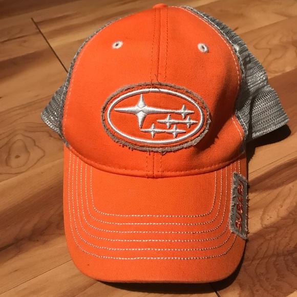 9e834a4278bb7 New orange Subaru hat